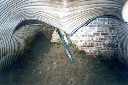 Air raid shelter found on the 21st October 2000